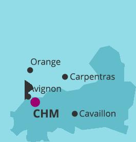 Cartographie territoire du centre hospitalier Montfavet Avignon pour les enfants