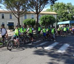 Arrivée au CHM de l'étape « Psycyclette » Forcalquier-Avignon (90 km) mardi 12 juin