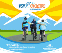 Arrivée de la randonnée Psycyclette en Avignon