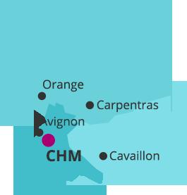 Cartographie territoire du centre hospitalier Montfavet Avignon pour les adultes